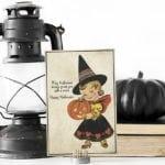 Vintage Inspired Halloween Greetings Postcard