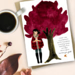 Fall Fashion Illustration and Autumn Quote