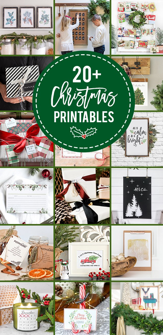 20+ Beautiful Christmas Printables. From gift tags to botanical prints to recipe cardss -- you're sure to find a few new favorites this year! Learn more at livelaughrowe.com