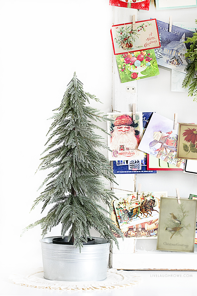 Vintage inspired printable Christmas Postcards that can be used as cards or a great addition to your holiday decor. Three different designs available at livelaughrowe.com