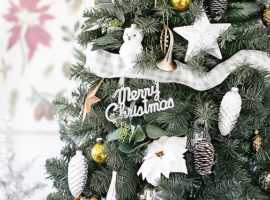 Beautiful Silver and Gold Christmas Tree. livelaughrowe.com