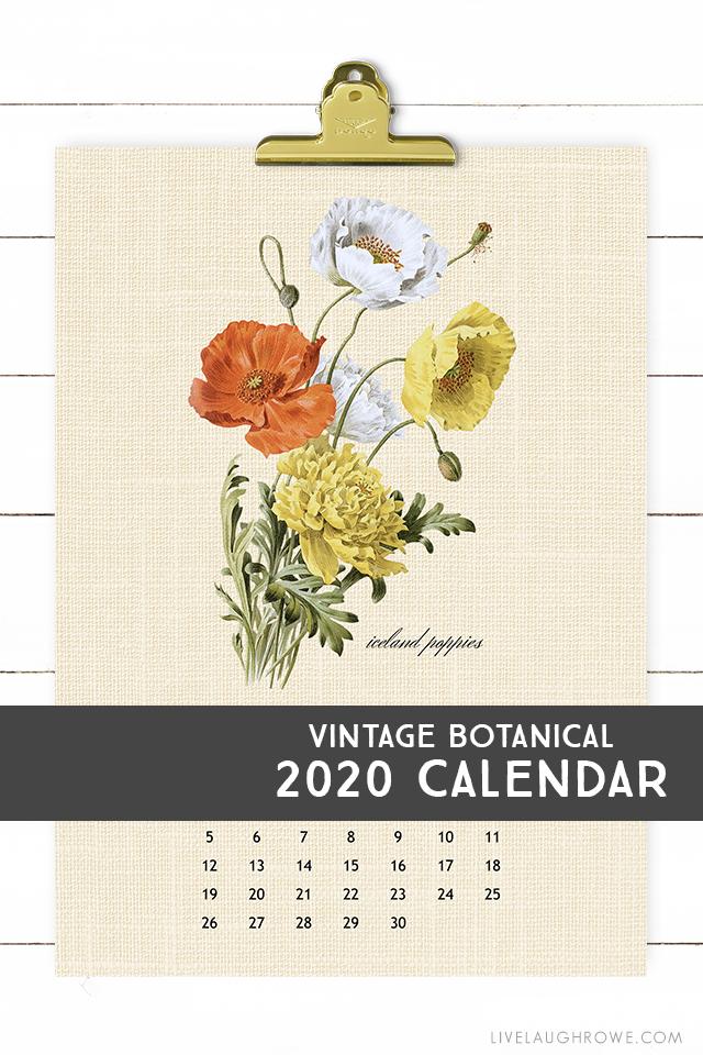 Styled 2020 Calendar Printable