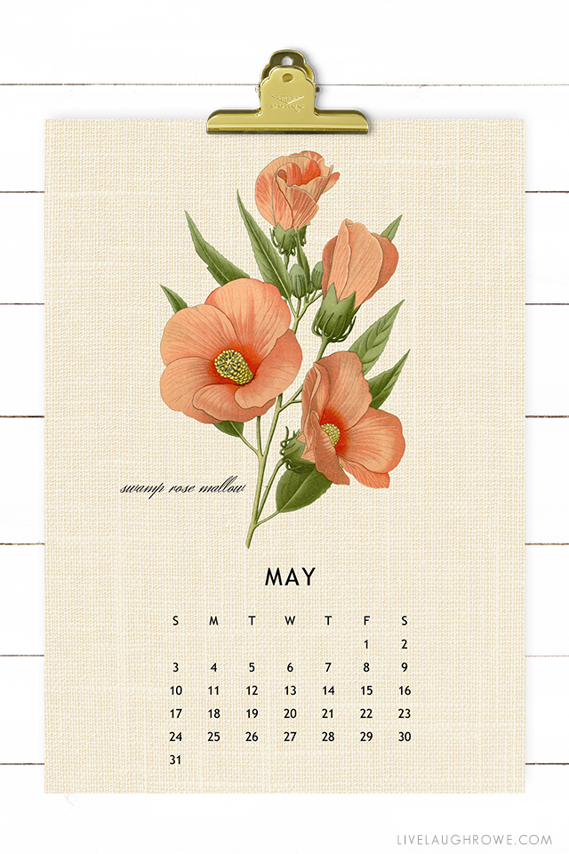 Botanical 2020 Calendar Printable
