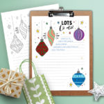 Christmas To-Do List Coloring Sheet