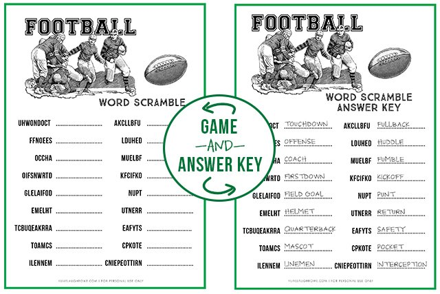 graphic relating to Super Bowl Party Games Printable named Soccer Term Scramble Tremendous Bowl Celebration Recreation - Are living Chortle Rowe