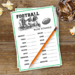 Football Word Scramble | Super Bowl Party Game