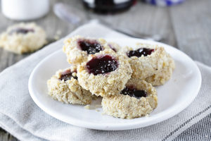 These thumbprint cookies are delicious, buttery little cookies filled with jam and rolled in nuts. This Thumbprint Cookie Recipe is not only a sweet treat, it's also incredibly easy to make. Recipe at livelaughrowe.com