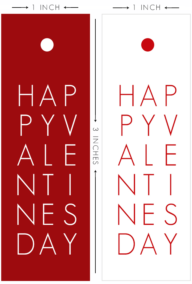Sweet and simple typography printable valentine tags. Two color options and they're FREE! Print yours at livelaughrowe.com