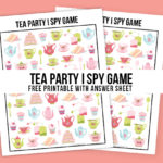 Tea Party Game | Printable I Spy
