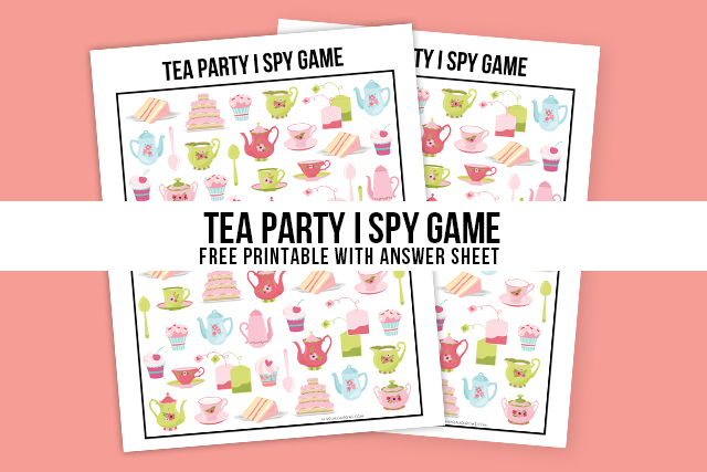 This is a photo of Witty Free Printable Tea Party Games