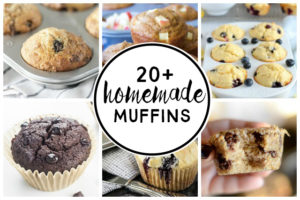 Over TWENTY delicious homemade muffins to peruse! Find a new recipe or two -- great for breakfast, brunch, dessert or snacks. More at livelaughrowe.com