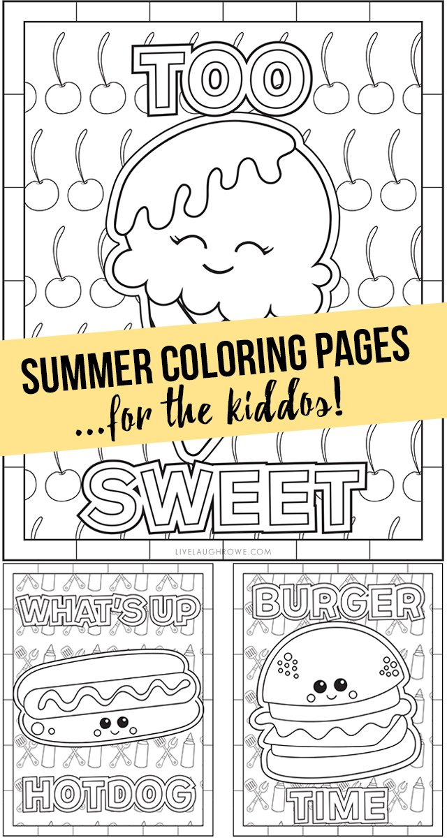 - Summer Coloring Pages For The Kiddos - Live Laugh Rowe