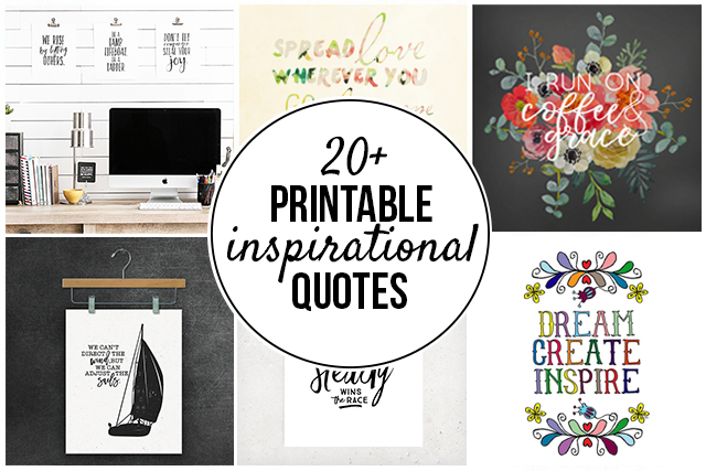 photo about Free Printable Inspirational Quotes known as 20+ Printable Inspirational Prices - Dwell Giggle Rowe