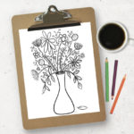 Free Printable Coloring Page | Floral Bouquet