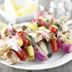 Lemon-Basil Chicken Kebabs with Vegetables