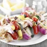 Lemon-Basil Chicken Kebabs with Vegetables
