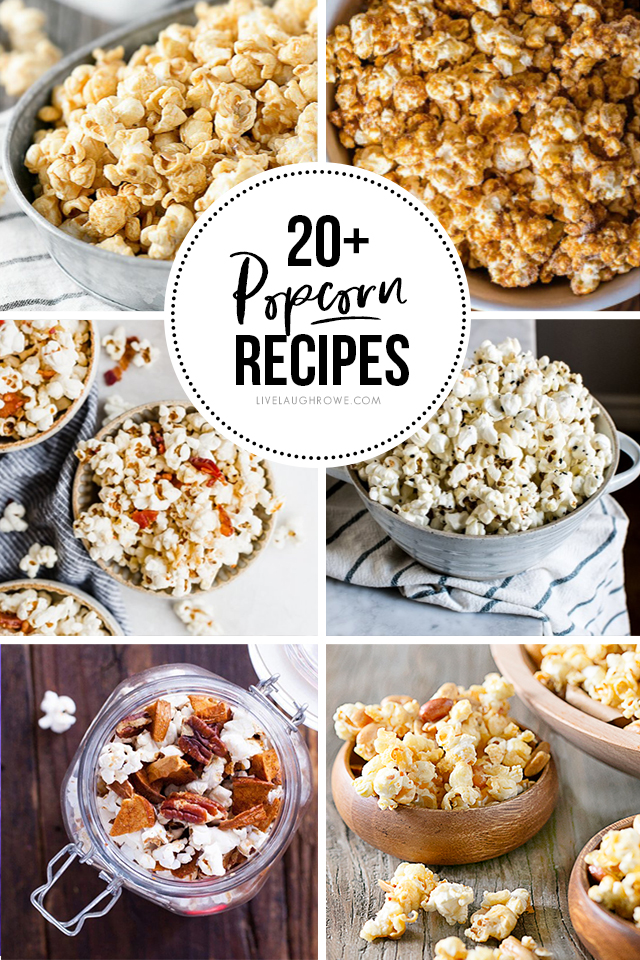 Have a snack craving? Maybe one of these delicious Popcorn Recipes will fit the bill! See if you can find a new favorite at livelaughrowe.com
