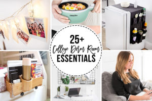 25+ College Dorm Room Essentials — from organization to decor to small appliances, take a look and find some great inspiration. Learn more at livelaughrowe.com