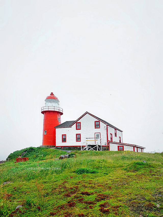 Lighthouse in Ferryland, Newfoundland and Labrador, Canada. Learn more at livelaughrowe.com