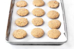 Making the Keto Peanut Butter No-Bake Cookies. Recipe at livelaughrowe.com