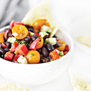 A delicious chunky-style Black Bean Salsa recipe that is made with fresh ingredients. Forget the store brands! Impress your friends and family with this flavorful salsa you can whip up in less than 20 minutes,. Recipe at livelaughrowe.com
