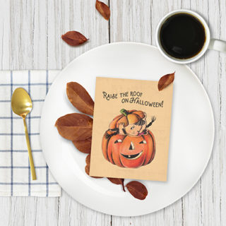 Styled Halloween Place Setting with Printable