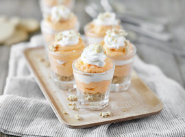 Orange Creamsicle Pudding Shots in Shot Glasses