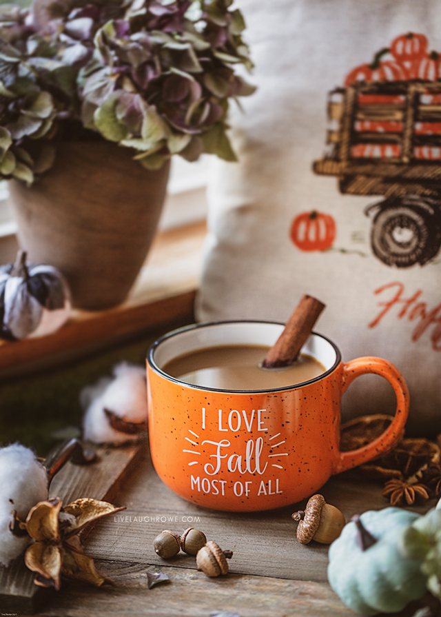 Fall Vignette with Coffee Mug