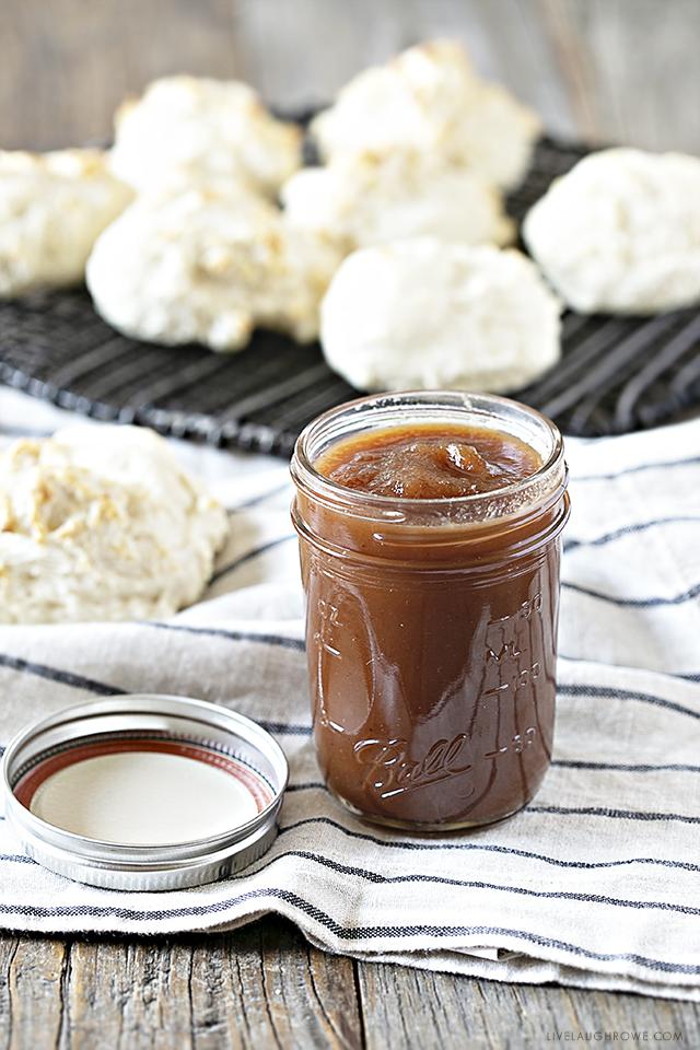 Crockpot Apple Butter in a Jar