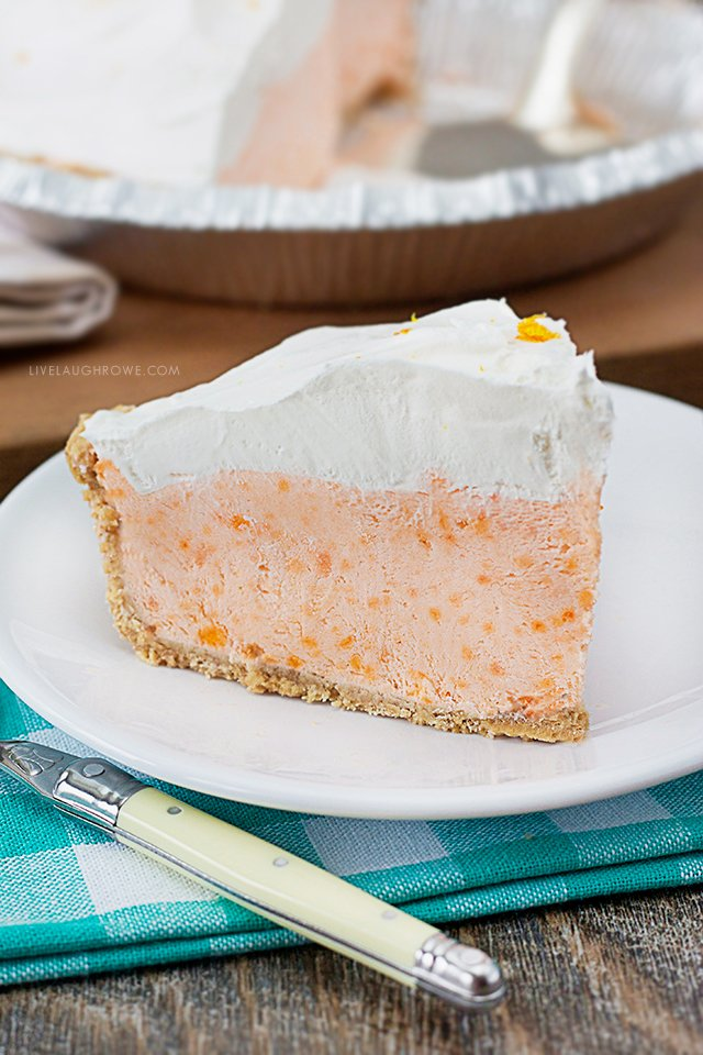 Delicious Slice of Creamsicle Pie