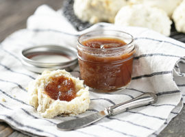 Apple Butter with Biscuit
