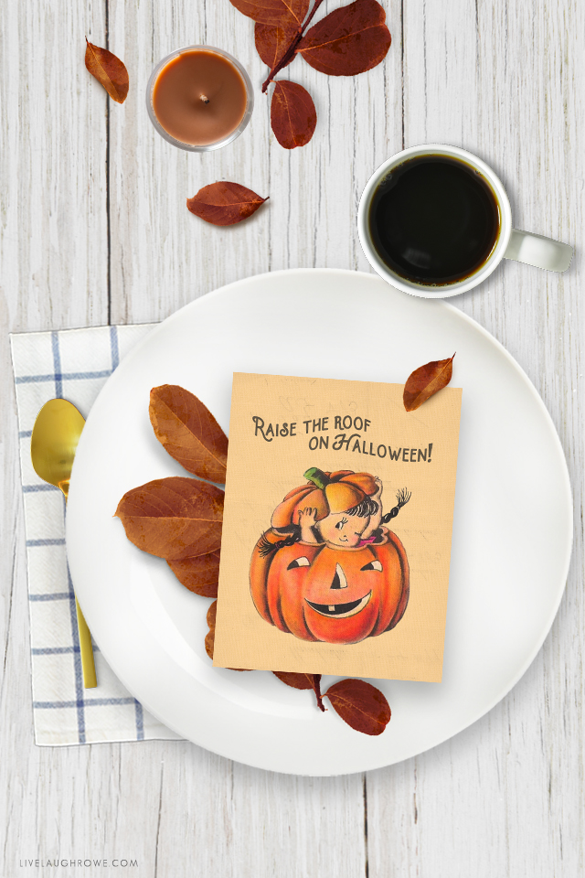 Beautifully styled Halloween Place Setting