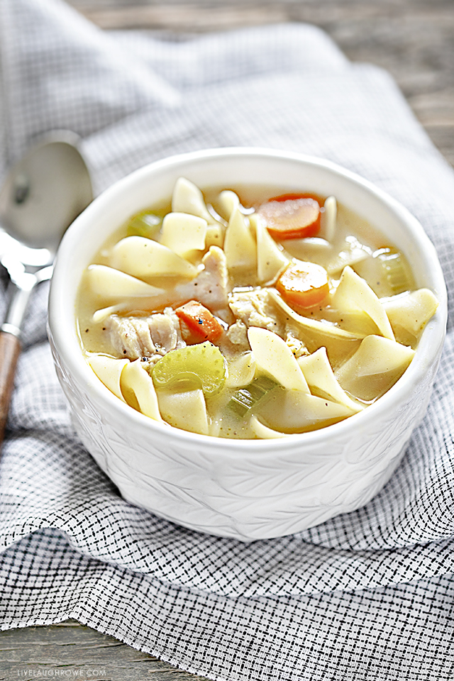 Delicious Bowl of Slow Cooker Chicken Noodle Soup