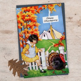 Thanksgiving Card with Fall Leaf
