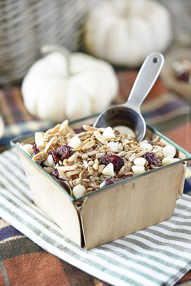 Cranberry and White Chocolate Granola Recipe