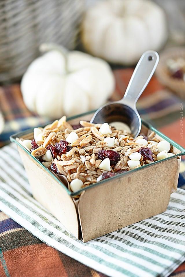 Cranberry and White Chocolate Granola Recipe
