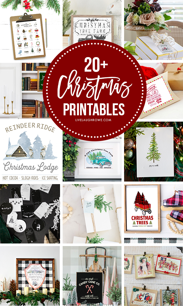 Collage of Christmas Printable Images
