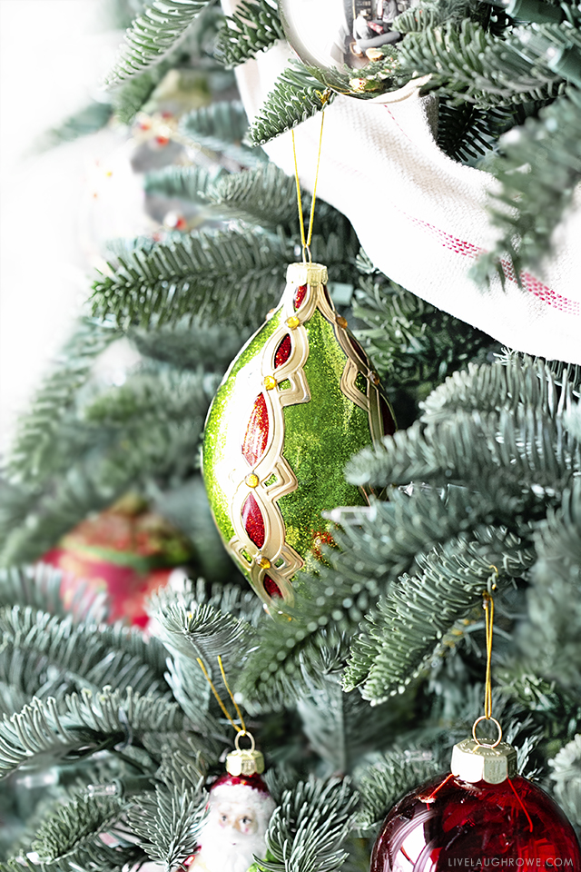 Oblong Ornament on Tree