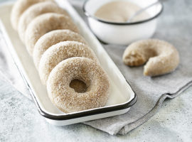 Donuts and Bowl of Cinnamon Sugar