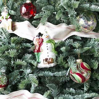 Vintage Inspired Snowman Ornament
