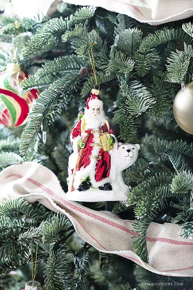 Santa, Mistletoe and Holly
