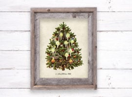 framed holiday printable