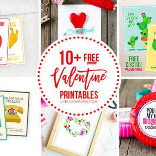 Free Valentine Printables Collage