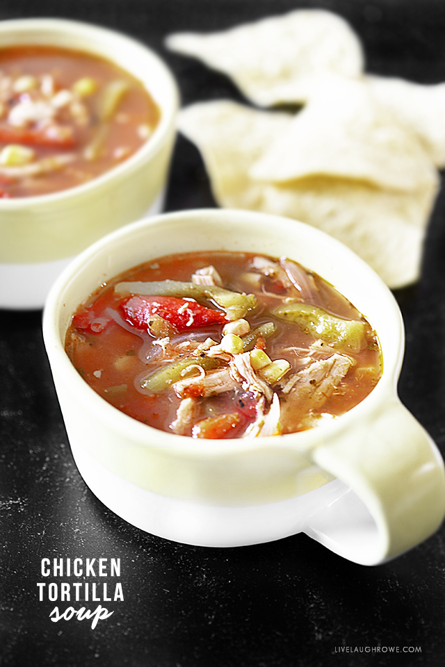 Chicken Tortilla Soup in Two Bowls