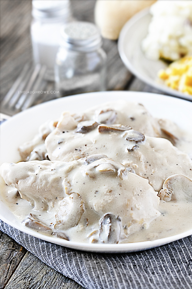 Plated Easy Crockpot Chicken Recipe