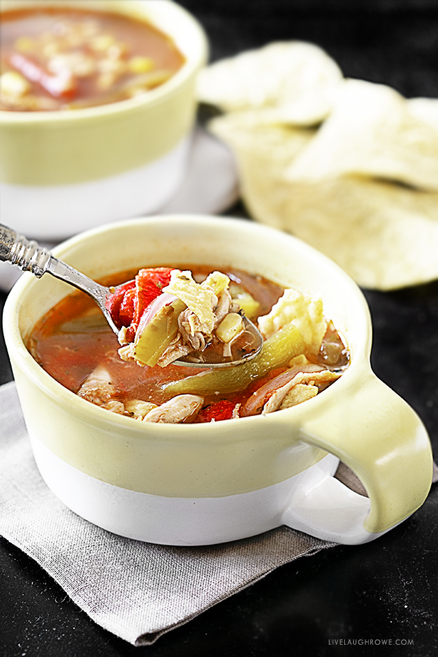 Spoonful of Chicken Tortilla Soup