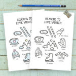 Reasons to Love Winter Print | 5×7 Printable