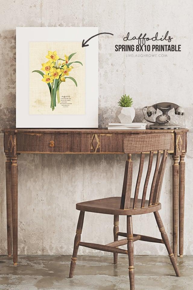 Daffodils Printable