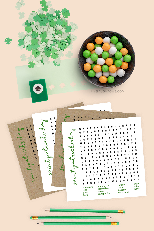 Saint Patrick's Day Flat Lay