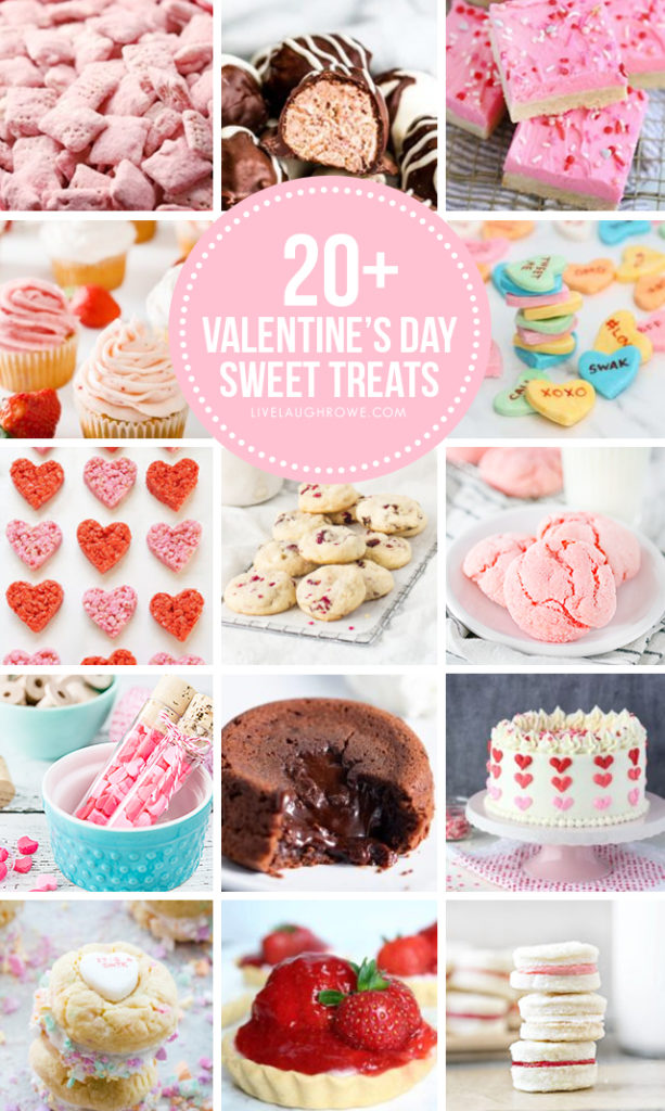 Valentine's Day Desserts Collage